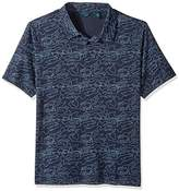 Perry Ellis Men's Big and Tall Pima Printed 3 Button Polo Shirt