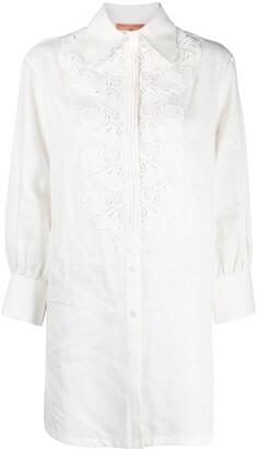 Ermanno Scervino Lace-Applique Linen Shirt