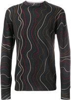 Frankie Morello printed line jumper