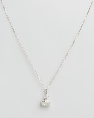 My Little Silver - Girl's Silver Necklaces - Twinning Dice Pendant & Necklace - Kids - Size One Size at The Iconic