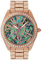 Betsey Johnson Abalone Optical Dial Rose Gold Bracelet Watch