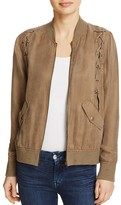 Honey Punch Lace-Up Bomber Jacket