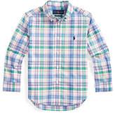 Ralph Lauren Childrenswear Boy's Stretch Poplin Plaid Button-Down Shirt, Size 5-7