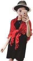 Santwo Fashion Chiffon Women Summer Shawl Beach Cover-up Scarf Shrug Cardigan