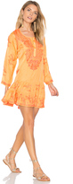 Juliet Dunn Silk Long Sleeve Beach Dress