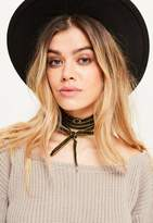 Missguided Velvet Wrap Around Choker Necklace