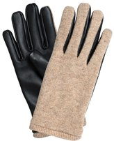 Oliver Bonas Wool Leather Mix Gloves