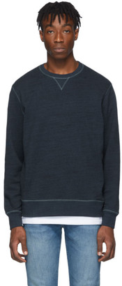 Levi's Levis Made And Crafted Levis Made and Crafted Blue Heather Crewneck Sweatshirt