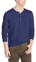 Velvet by Graham & Spencer Men's Scotty Double-Fold Slub Long Sleeve Henley