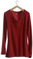 Petit Bateau Womens long-sleeved, round neck tee in loose cotton