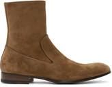 Alexander McQueen Tan Suede Zip-up Boots