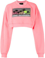 Alexander Wang cropped 'Mind Detergent' sweatshirt - women - Cotton - S