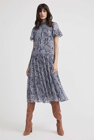 Witchery High-Neck Frill Dress