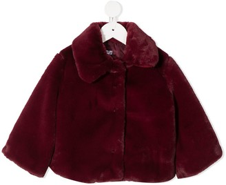Piccola Ludo Faux-Fur Fitted Jacket