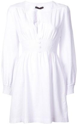 ALEXACHUNG Smock Short Dress