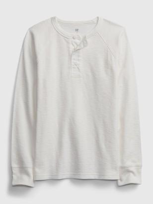 Gap Kids Waffle Knit Henley Shirt