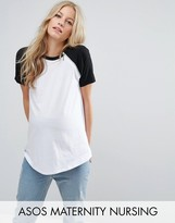 ASOS Maternity - Nursing ASOS Maternity NURSING Color Block T-Shirt with Zip Detail