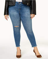 KUT from the Kloth Plus Size Janet Distressed Skinny Ankle Jeans