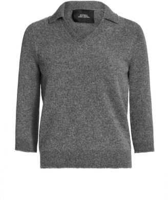 Marc Jacobs Cropped Wool & Cashmere Polo Top