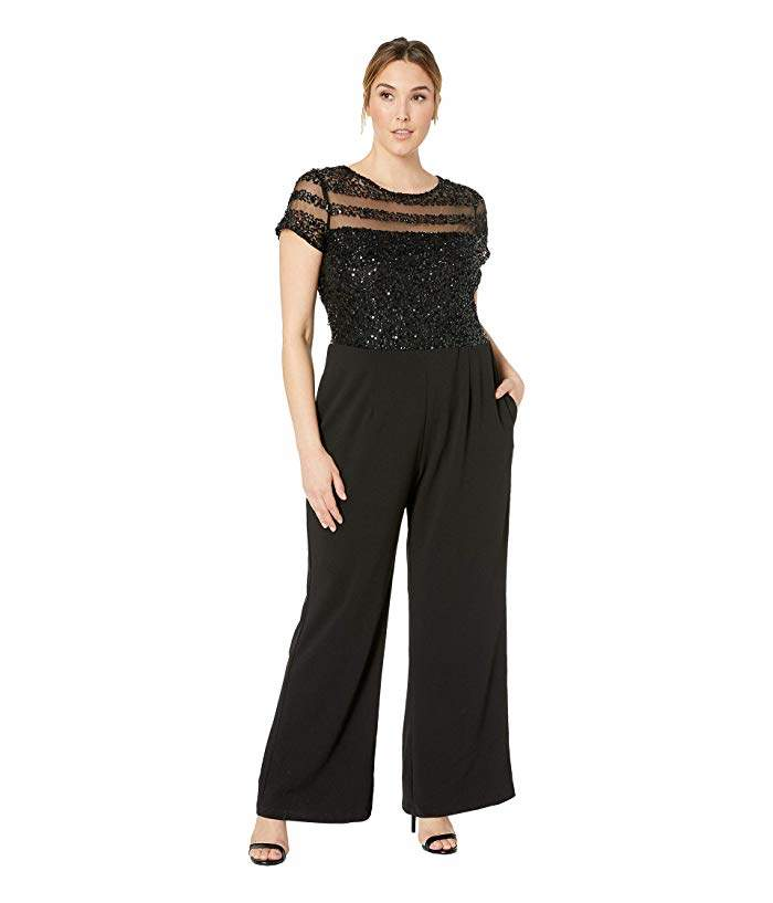 Adrianna Papell Plus Size Crepe Jumpsuit
