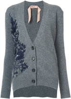 No.21 embroidered cardigan
