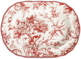 """222 Fifth Adelaide Maroon Platter Oval 14"""""""