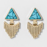 BaubleBar SUGARFIX by Turquoise & Gold Ear Jackets - Turquoise