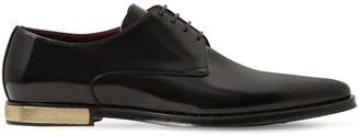 Dolce & Gabbana Leather Lace-up Shoes W/ Studded Trim