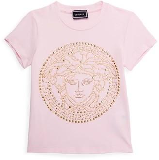 Versace Little Girl's & Girl's Embellished Medusa T-Shirt