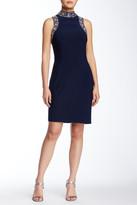 Marina Sleeveless & Beaded Jersey Sheath Dress