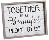 "Evergreen Together"" Wooden Plaque"