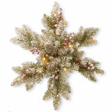 NATIONAL TREE CO National Tree Co. 18 Dunhill Fir Snowflake With Led Lights Snowman Figurine