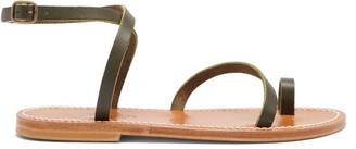 K. Jacques Loki Leather Sandals - Womens - Khaki