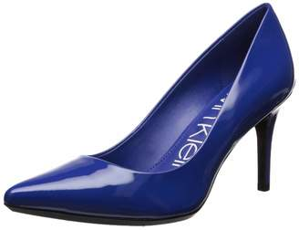 Calvin Klein Women's Gayle Pump Black Patent Pump - 7 B(M) US