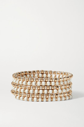Roxanne Assoulin Little Ones Set Of Six Gold And Silver-tone And Enamel Bracelets - one size
