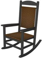 Polywood Presidential Rocking Chair Finish: Slate Grey / Tigerwood
