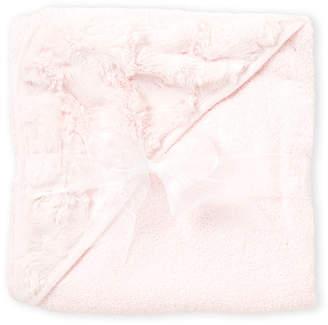 Baby Essentials Kyle & Deena (Newborn/Infant Girls) Pink Faux Fur Hooded Towel