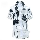 Pishon Men's Hawaiian Shirt Summer Regular Fit Short Sleeve Button Up Beach Shirt