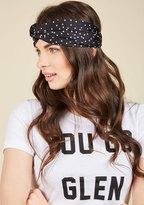 ModCloth Tie Will Tell Headband in Noir Dots