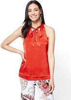 New York & Co. 7th Avenue - Tie-Front Halter Blouse
