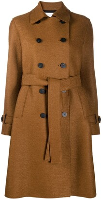 Harris Wharf London Double-Breasted Trench Coat