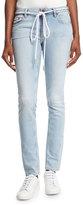 Off-White Diagonal-Striped Denim Jeans
