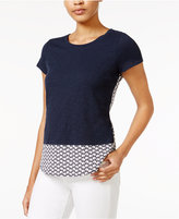 Maison Jules Layered-Look Printed Top, Only at Macy's