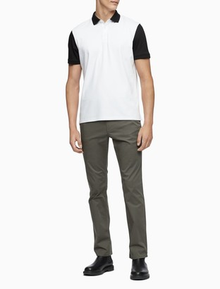 Calvin Klein Regular Fit Colorblock Logo Polo Shirt
