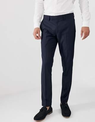 Farah Smart Henderson skinny fit trousers in navy