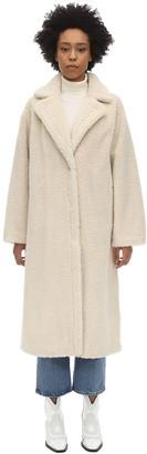 Stand Maria Teddy Faux Fur Midi Coat
