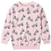 Barbie Girl's All Over Print Logo Top