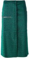 Golden Goose Deluxe Brand glitter midi skirt - women - Cotton/Polyester/Polyurethane - S