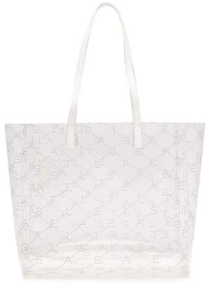 Stella McCartney Logo Pattern Transparent Tote Bag - Womens - Clear