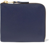 Comme des Garcons Zip Around Small Leather Wallet - Navy